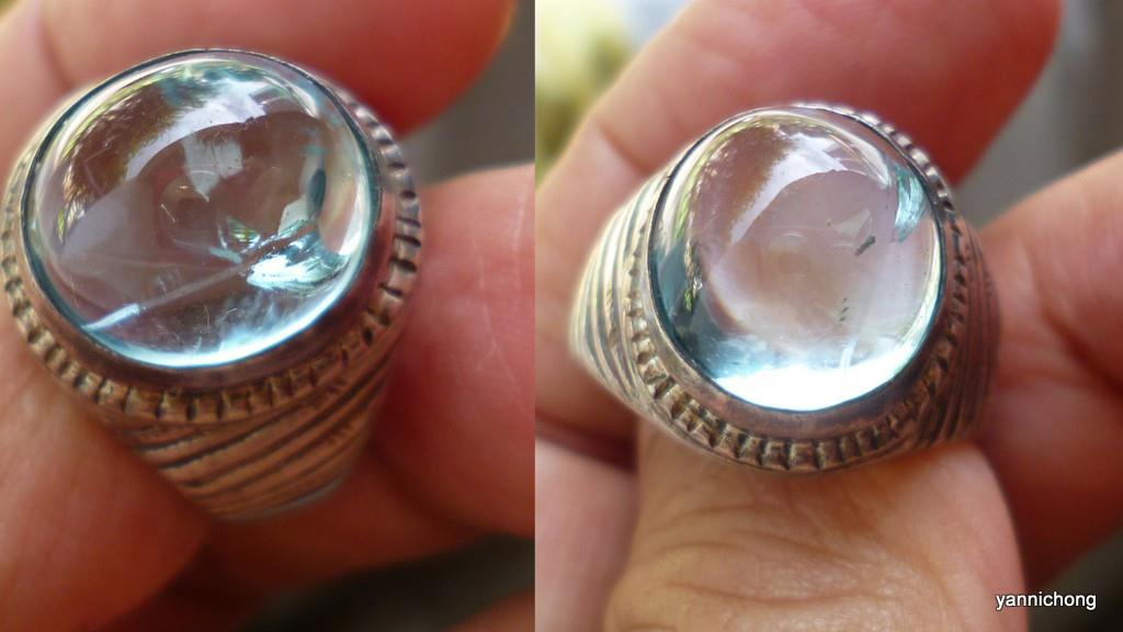 TRANSLUCENT  AQUAMARINE RING, ,