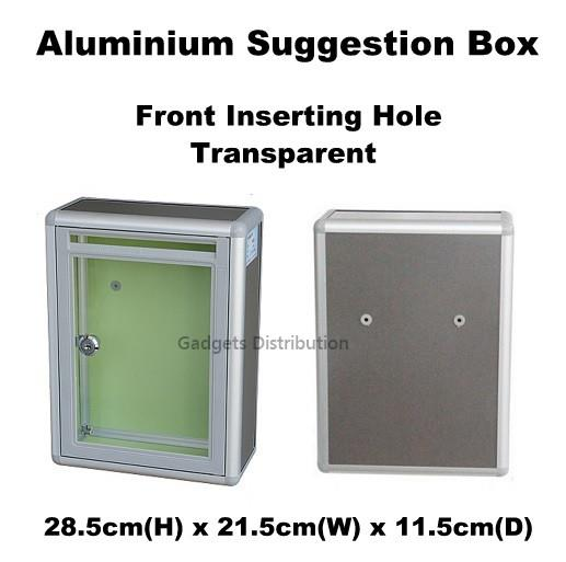 Transparent Aluminium Suggestion Box Mailbox Letter Box Front 2497.1