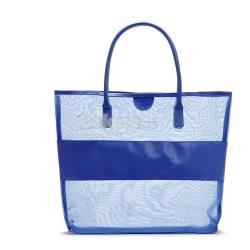 Transparent Grid Shoulder Bag Limited Blue