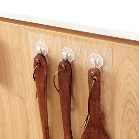 Transparent Strong No Trace Nail-free Hooks (3 Hooks)
