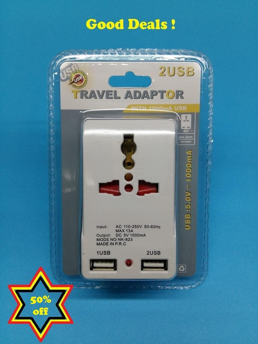 Travel adaptor / Multi adapter / Universal adapter with (2 USB)
