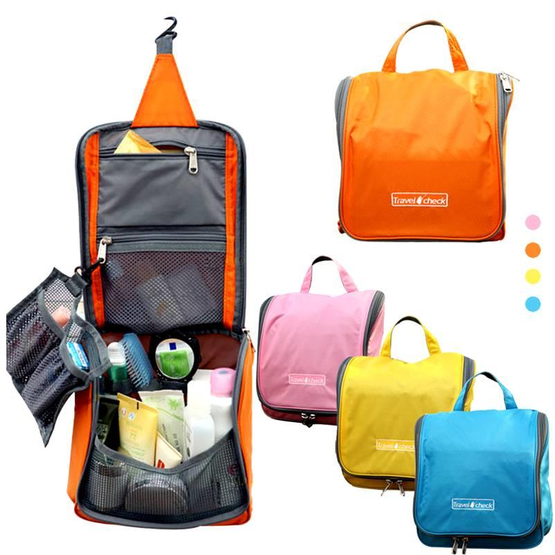 Travel Check travel waterproof pouch/Toiletry Bag/ ready stock