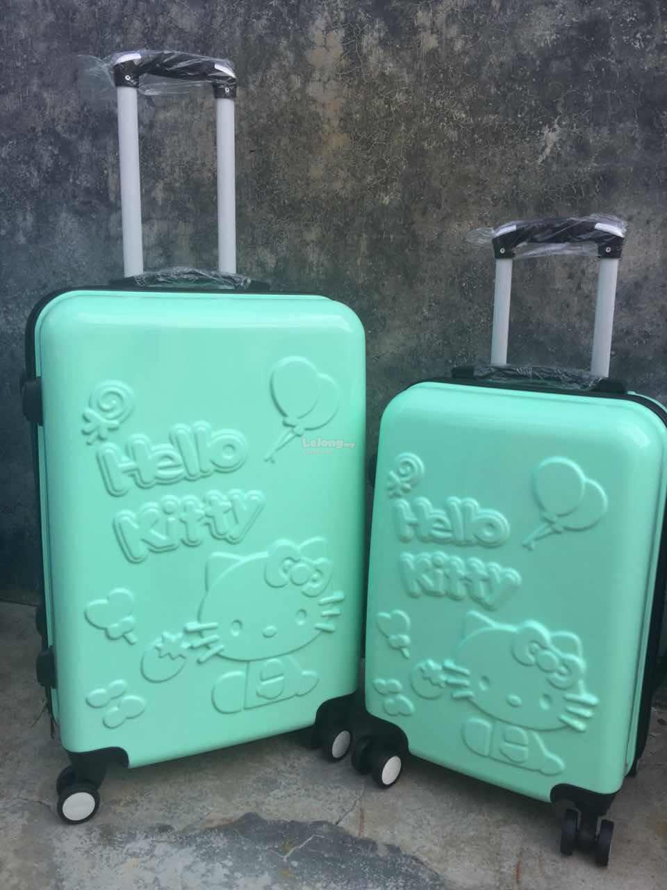 a7a9d6218 Travel Luggage Bag Cute Hello Kitty New Fashion Buy 1 Free 1