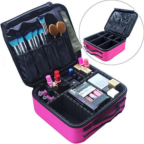 Travel Makeup Bag Train Case Cosmetic Organizer Portable A