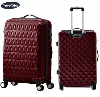 Travel Star 288 Triangle Design Hard Case Luggage 20 Inches - Maroon