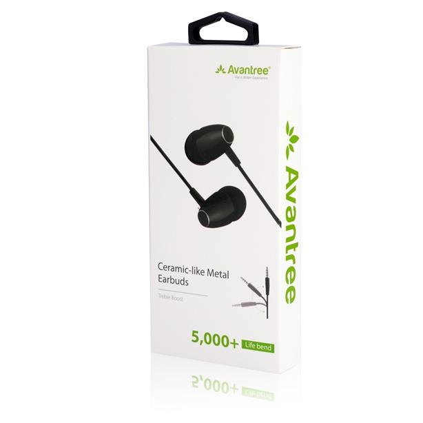 (Treble Boost) AVANTREE HF034 3.5mm Earphone Handsfree OPPO F1s A57 F9