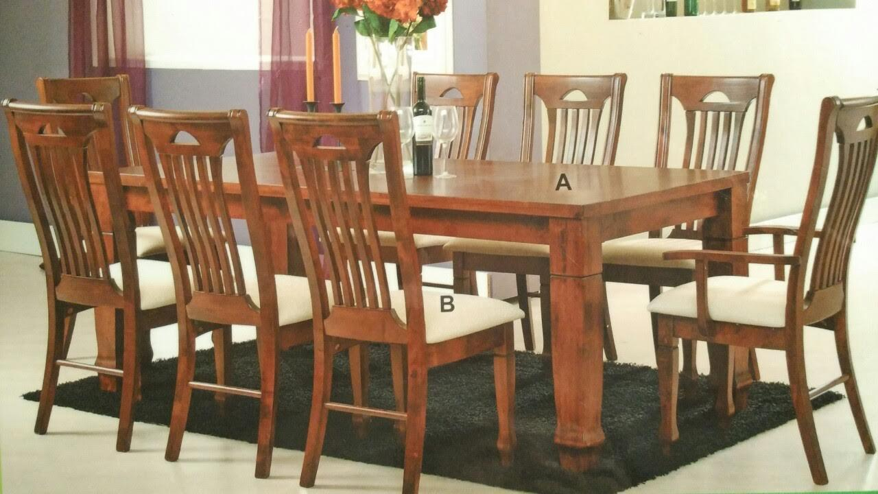 Treez Kiev 910 Wooden Dining Set (Table + 8 Chairs)