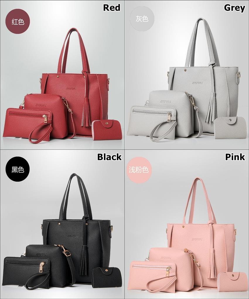 5e5c2e9b116b New Trend 4pcs Fashion Women Tote Bags Ladies Handbags Shoulder Bag