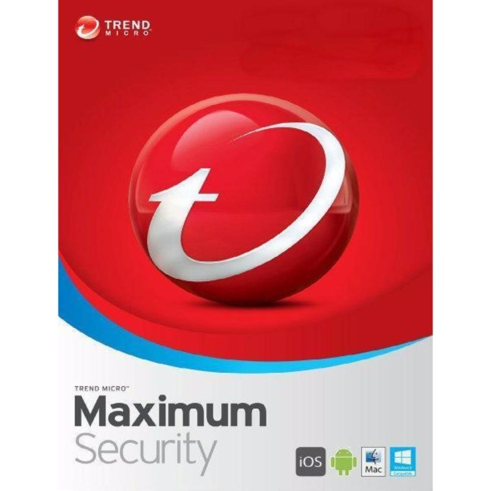 Trend Micro Maximum Internet Antivirus Security 2017 Windows Mac PC