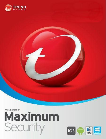 Trend Micro Maximum Security 2018 2019 - 3 Years 1 PC Windows 7 8 10