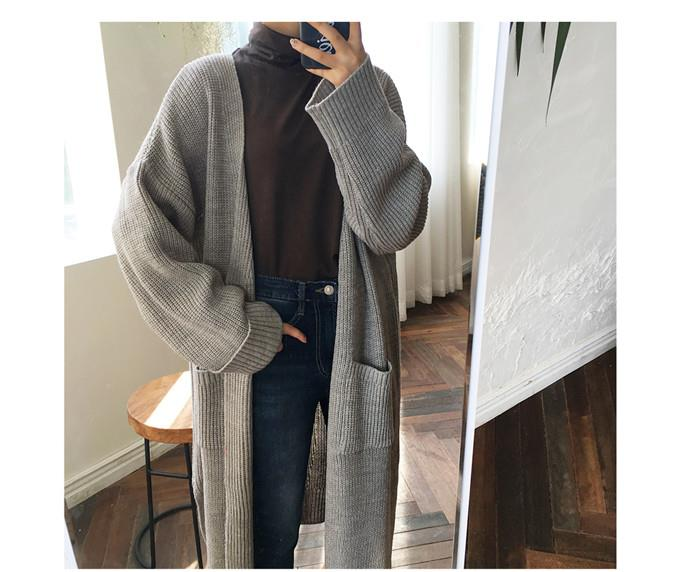 Trendy Cardigan Grey