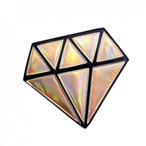 trendy diamond shape and geometric design womens crossbody bag