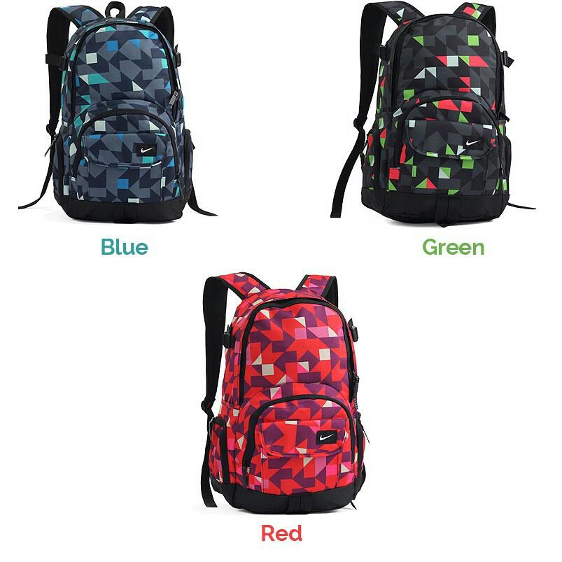 Trendy Geometry Pattern Sport Travel Laptop Nike Backpack Bag