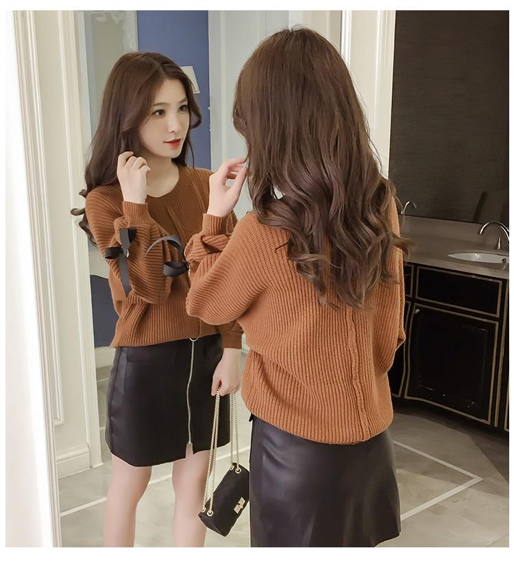 Trendy Knit Top Brown
