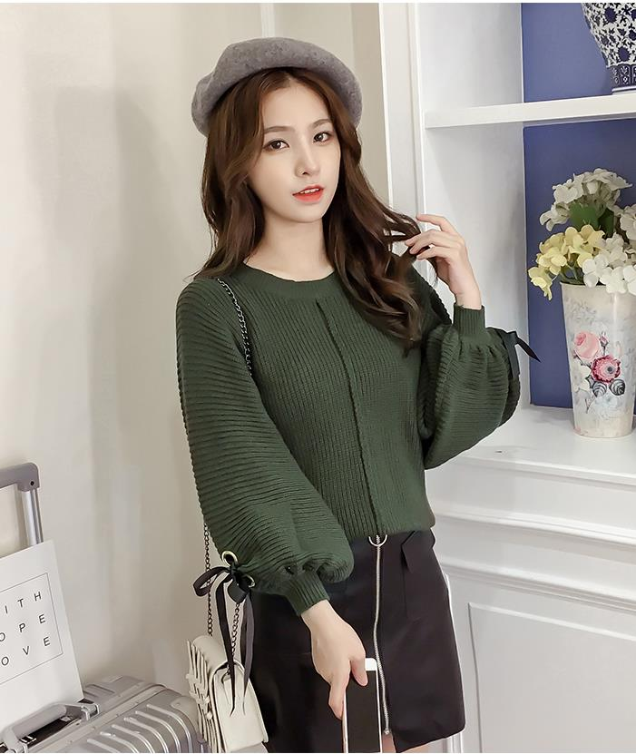 Trendy Knit Top Green