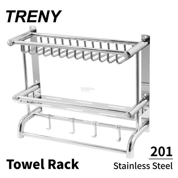 TRENY 201  Stainless steel double kitchen dish rack