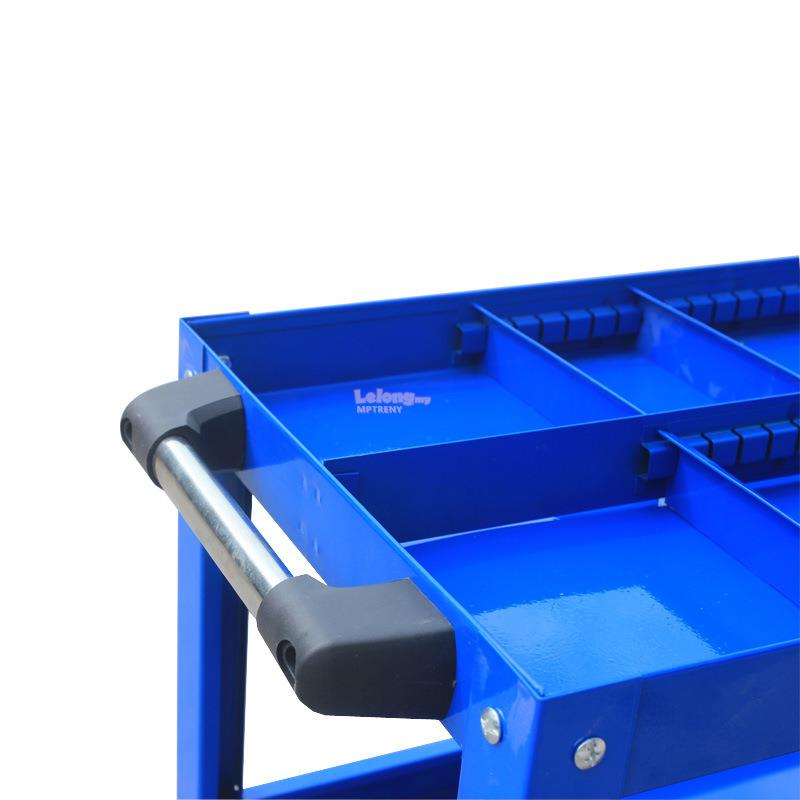 TRENY 3 Layer Service Cart Tools Trolley 120kg (Thick1.2mm) -Plus