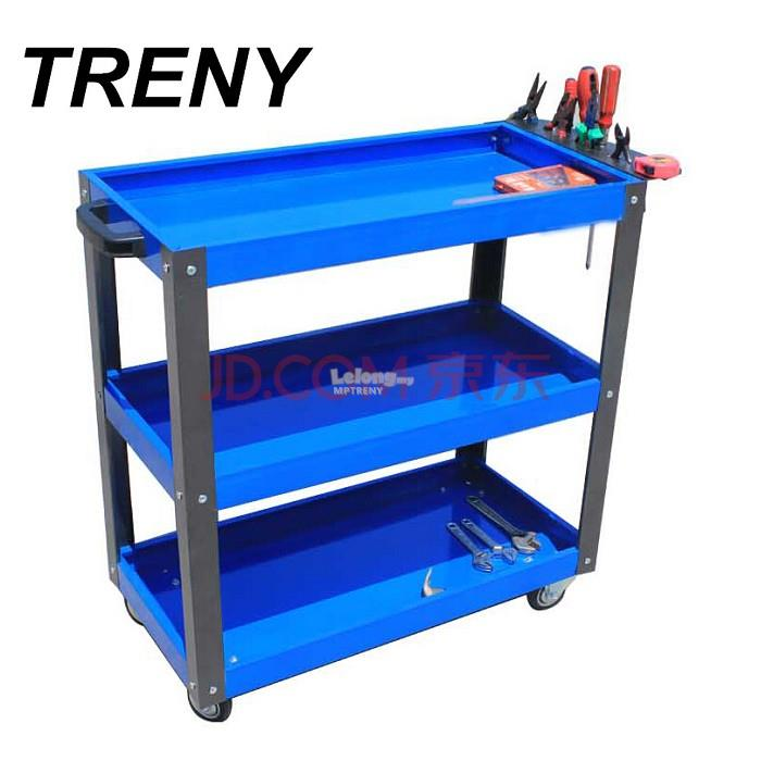 TRENY 3 Layer Service Cart Tools Trolley 120kg (Thick1.2mm) YM10