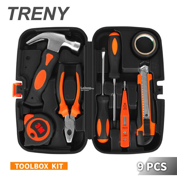 TRENY JYS 9PCS Multi-use Home Hand Carry Tool Kit ( DIY Tool