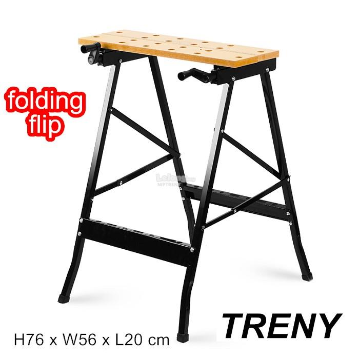 TRENY Multifunctional folding flip carpentry table woodworking table W