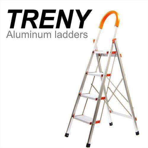 TRENY Wide Tread Aluminum 4 Step Lad (end 5/6/2018 11:15 PM