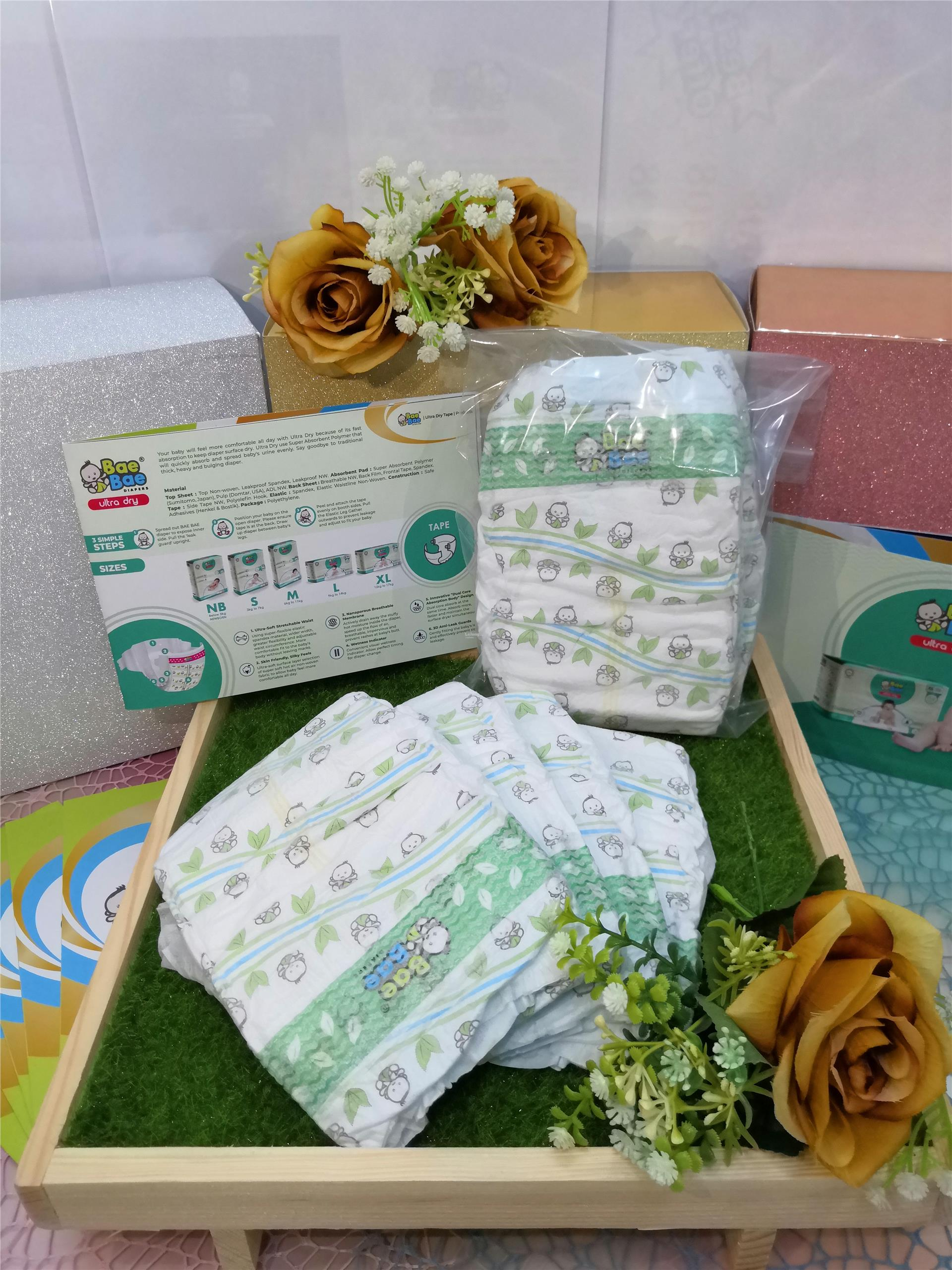 Trial Pack - BaeBae Diapers Ultra Dry (XL - 16pcs)