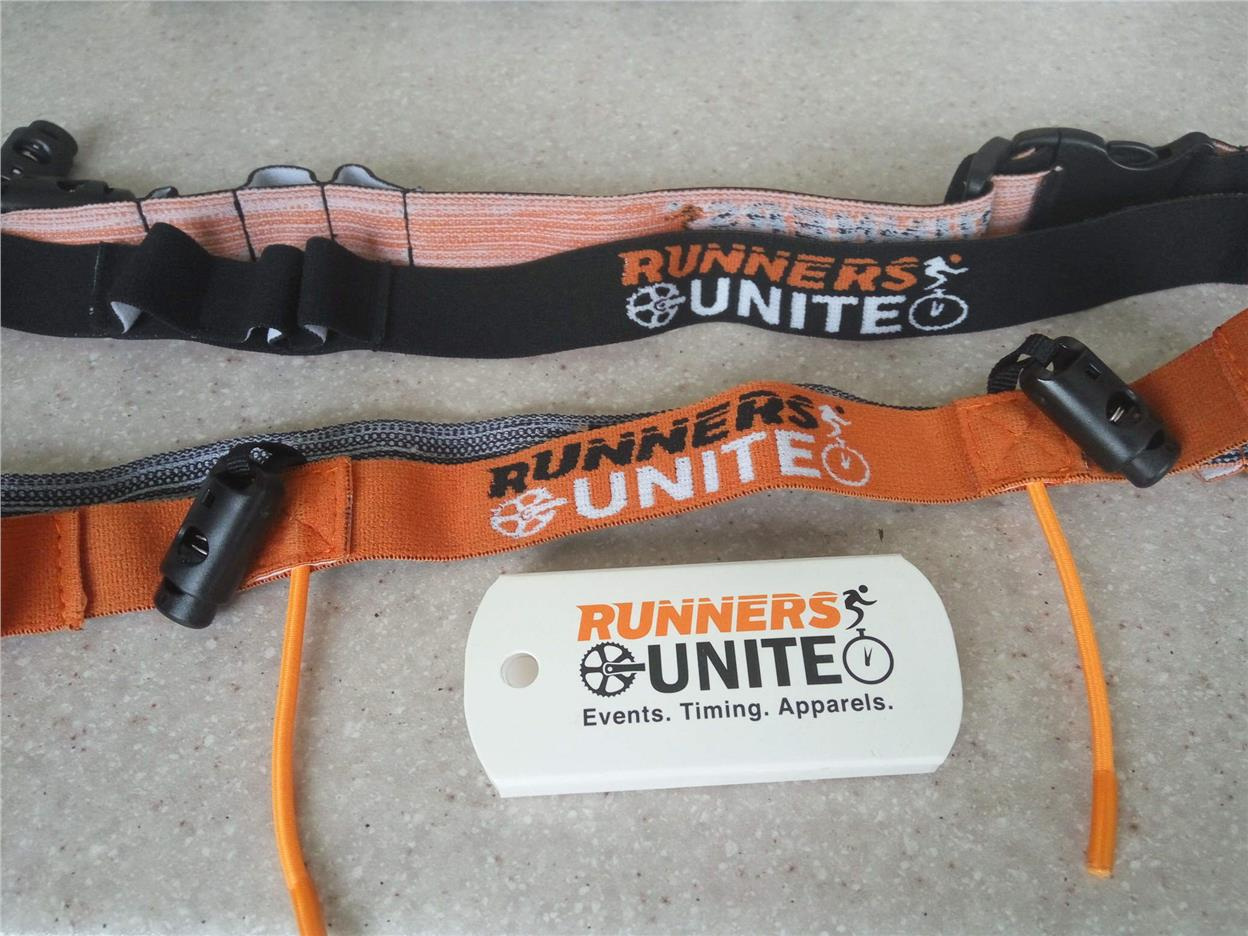 Triathlon/Running Race Belt with Gel Holder