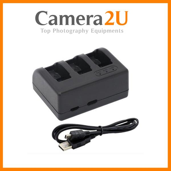 Triple Battery USB Charger for GoPro Hero5 Hero 5 Hero6 Action Camera