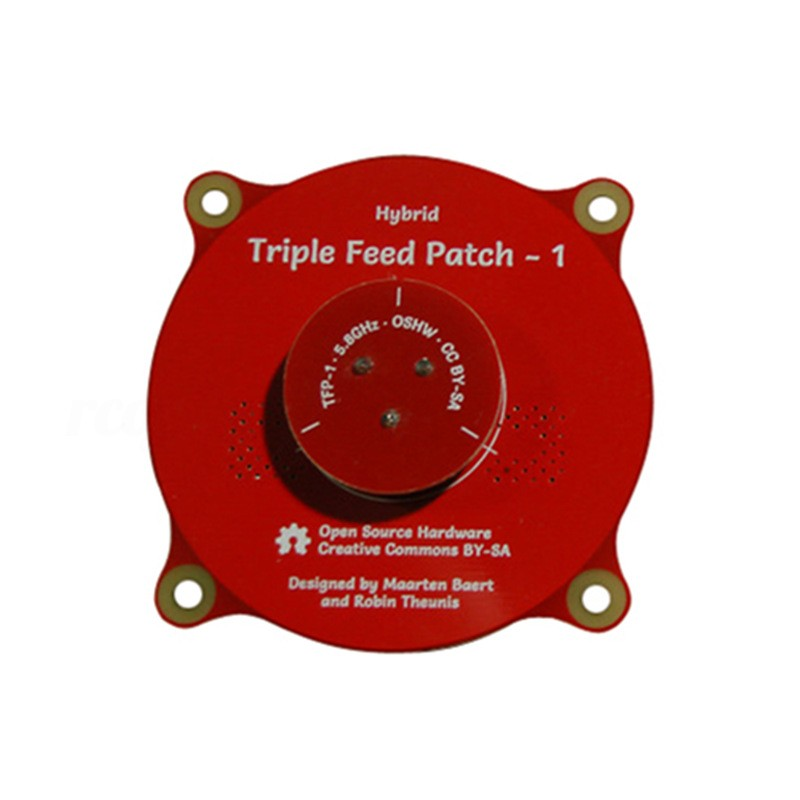 Triple Feed Patch-1 5.8 Ghz 9.4dbi Fpv Antenna_rc - Realacc - [RED]