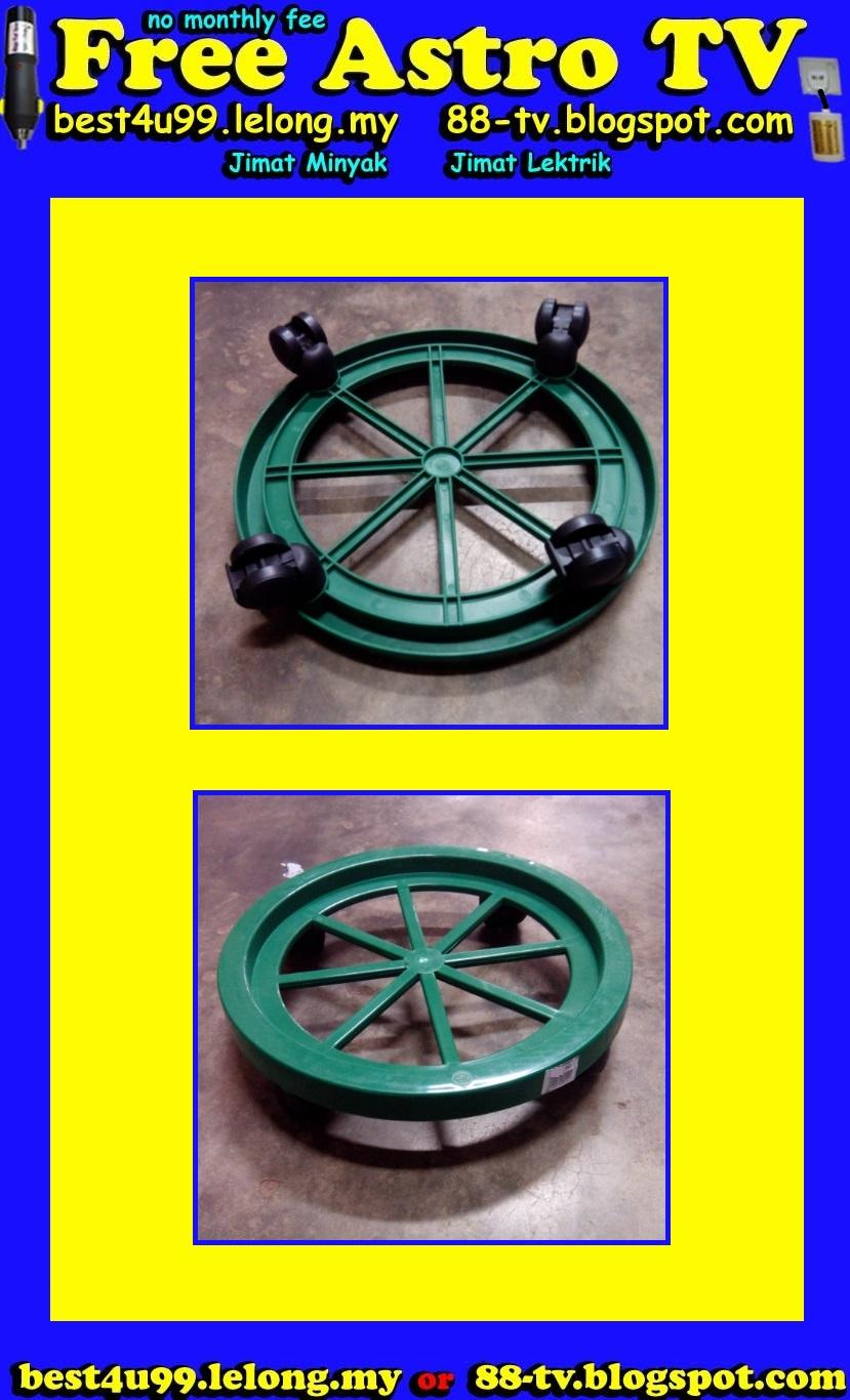 Troli Roda Gas Cylinder Trolley Wheel Plastic Flower Pot Safety Handle