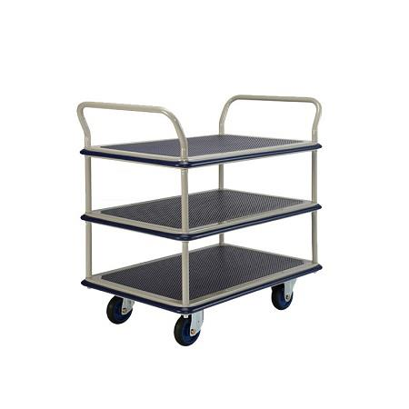 Trolley Hand Truck 2Handle 3Decker 300Kgs Metal NF305 MMXX