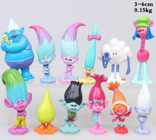 Trolls Figurine Set / Cake Topper (12 pcs) - Set C