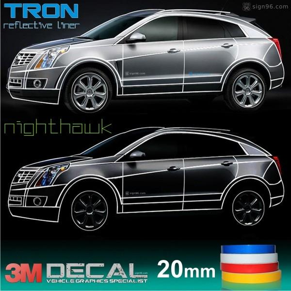 Tron liner 3m reflective car sticker 20mm x 45m