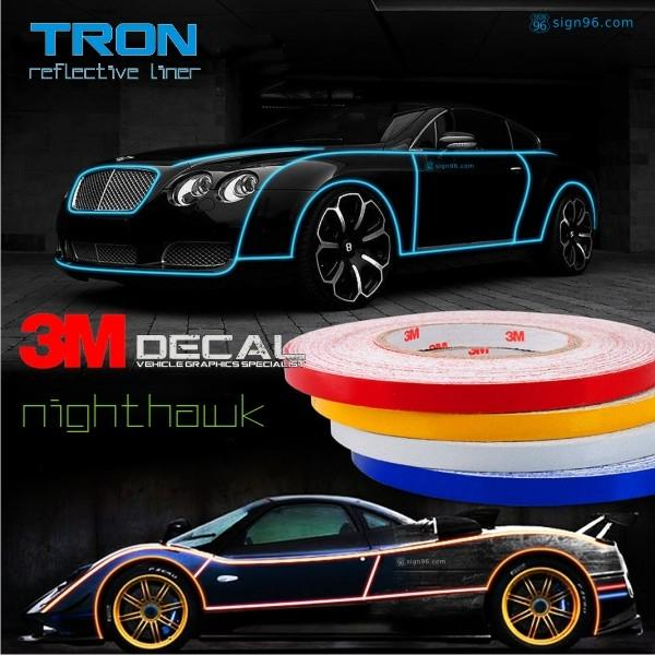 Tron reflective liner 3m reflective car sticker