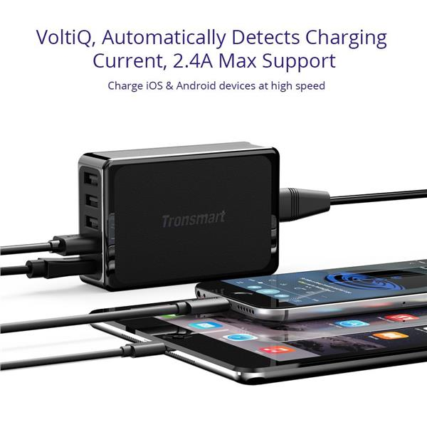 Tronsmart 1USB Port Qualcomm QC3.0 + 4USB Ports VoltiQ Desktop Charger