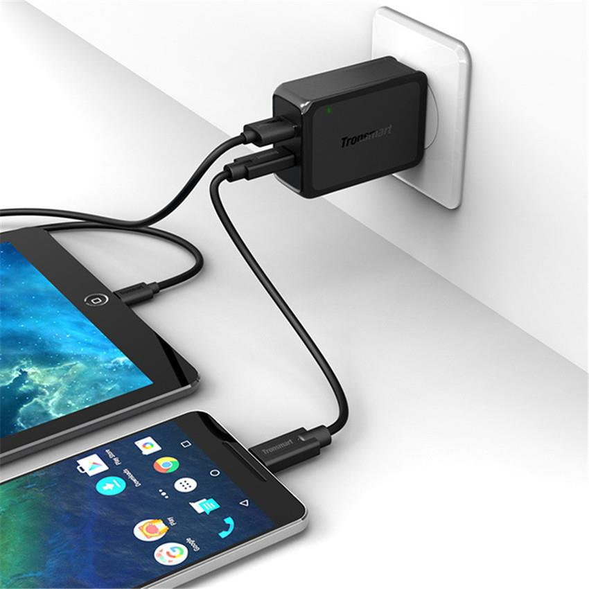 Tronsmart 2USB Ports Quick Charge 3.0+VoltiQ 36W Qualcomm Wall Charger