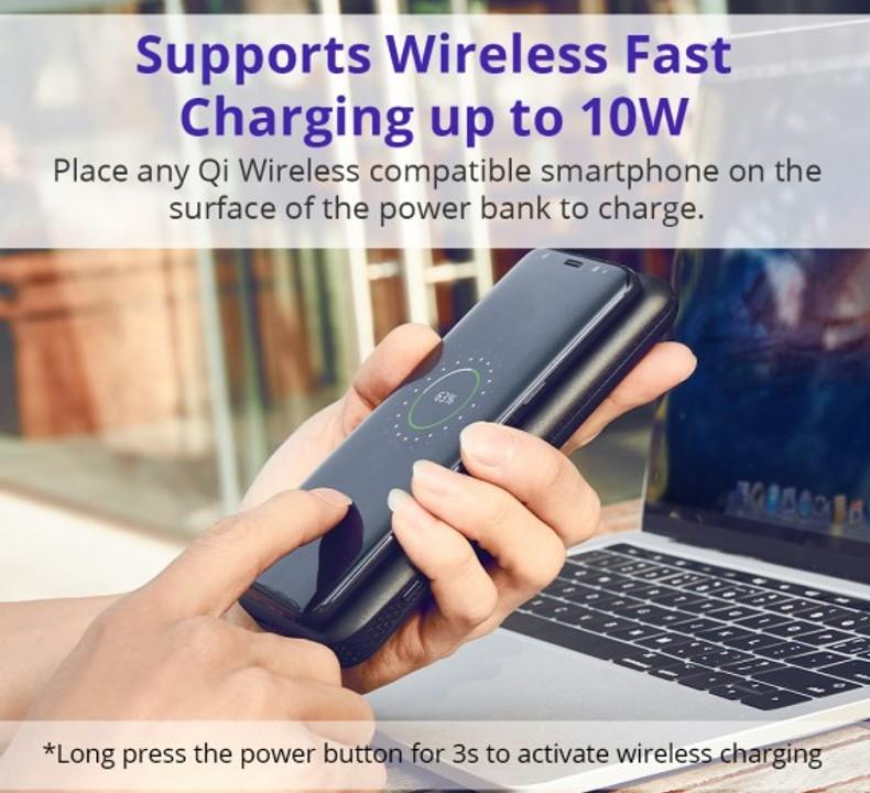 Tronsmart AirAmp 10W 8000mAh Hybrid Wireless Charging Power Bank