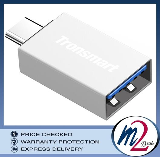 Tronsmart CTAF Type-C Male to USB-A Female USB 3.0 Adapter (Silver)