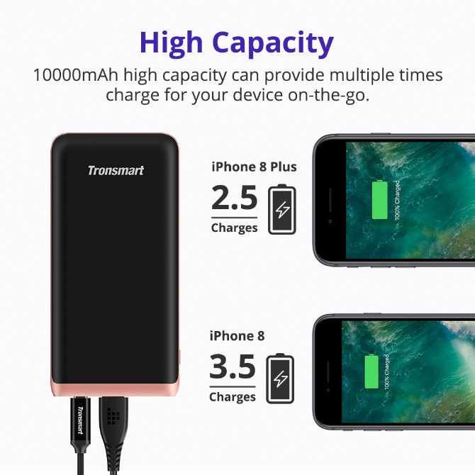 Tronsmart PBD01 Trim 10000mAh Ultra Slim Power Bank