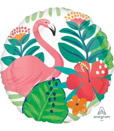 Tropical Jungle Flamingo 17in Foil Balloon 39683 Party Flamingle