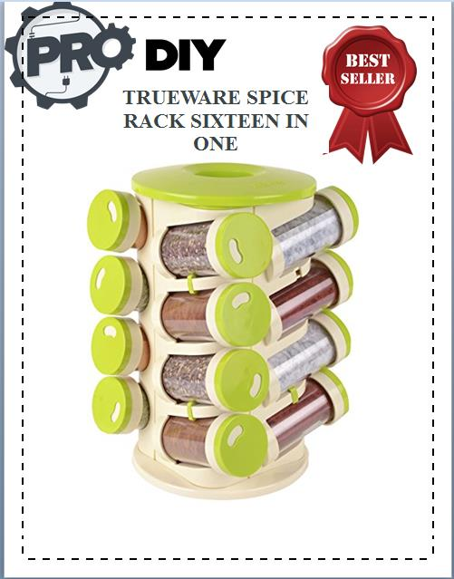 TRUEWARE SPICE RACK SIXTEEN IN ONE WITH CUTLERY HOLDER
