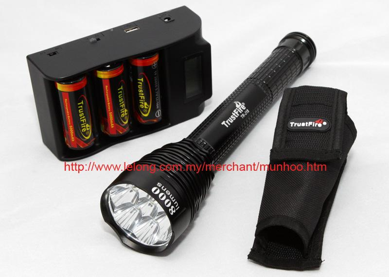 TrustFire TR-J18 CREE XM-L LED 8000 Lumens 3 26650 Battery flashlight
