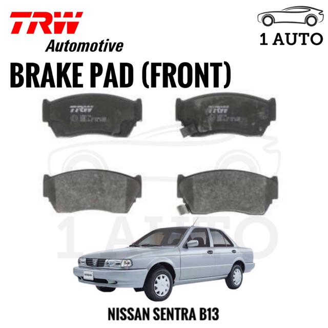 TRW FRONT BRAKE PAD for NISSAN SENTRA B13
