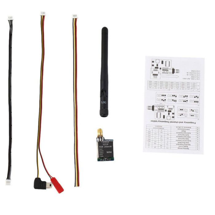 TS5823 5 8G 32Chan Mini Wireless AV 200mW Transmitter Module w/Antenna