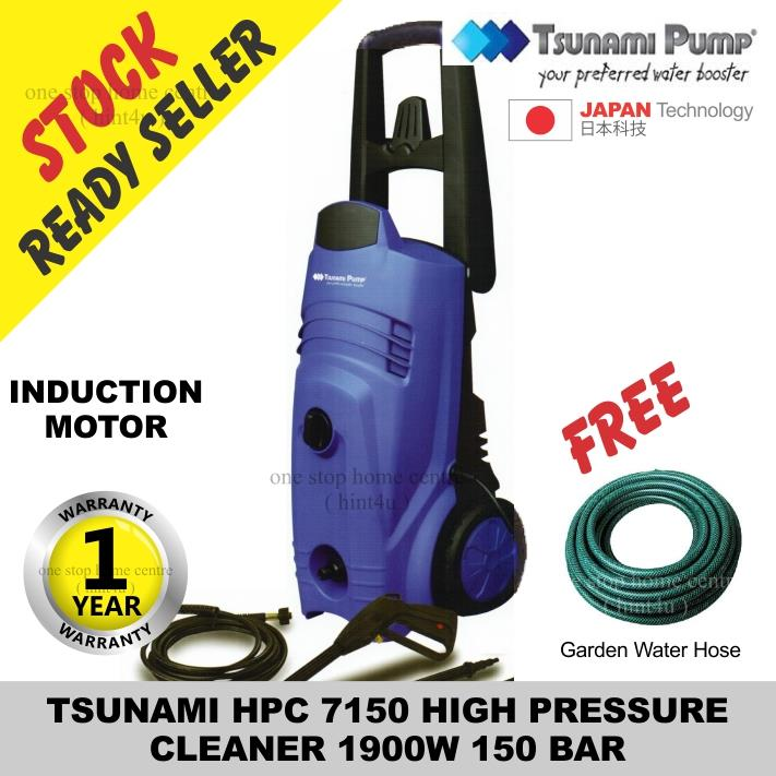 TSUNAMI 150 BAR HPC 7150 HIGH PRESSURE CLEANER free garden hose