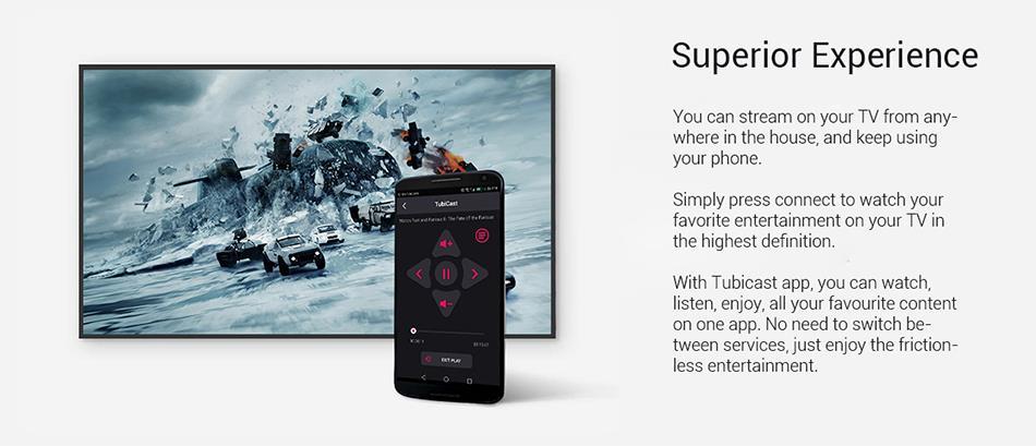 Tubicast TV IPTV Dongle Wireless Display Stream Chromecast TV Stick