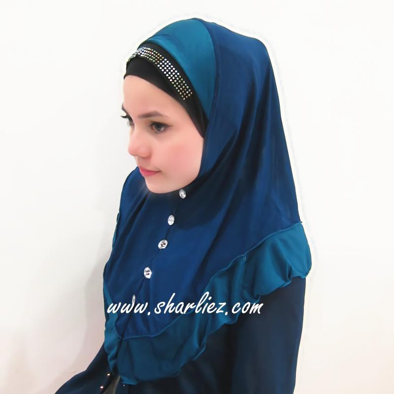 Tudung & Shawl button beads diamond 2