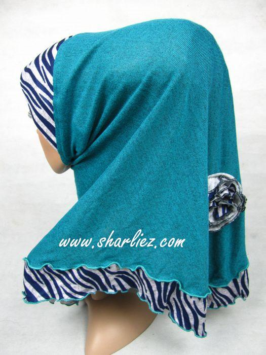 Tudung & Shawl zebra print cotton casual