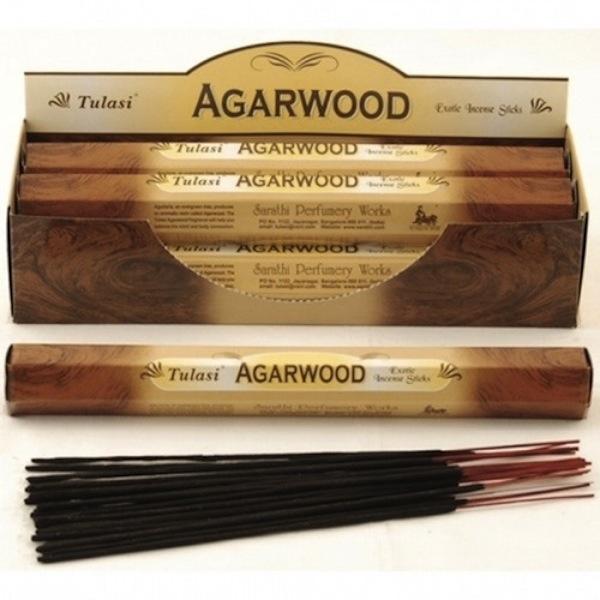 Tulasi Agarwood Incense 20 sticks per pack ,6pack in box
