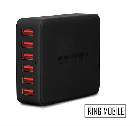 Tunewear TuneMax 9A 6 USB Desktop Charger - Black / Original